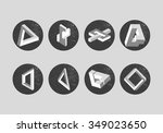 vector set of impossible... | Shutterstock .eps vector #349023650