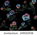 seamless floral pattern made...   Shutterstock . vector #349032938