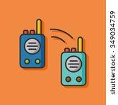 tool walkie vector icon | Shutterstock .eps vector #349034759