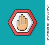 prohibit sign vector icon | Shutterstock .eps vector #349034924