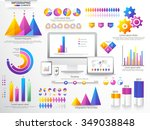 various business infographic... | Shutterstock .eps vector #349038848