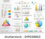 big set of various business... | Shutterstock .eps vector #349038863