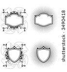 shields vector    Shutterstock .eps vector #3490418