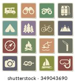 active recreation label icons... | Shutterstock .eps vector #349043690