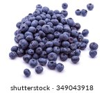 Group Of Fresh Blueberries...