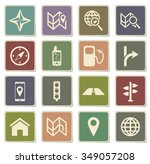 navigation label icons for web | Shutterstock .eps vector #349057208