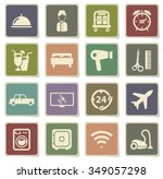 hotel label icons for web | Shutterstock .eps vector #349057298