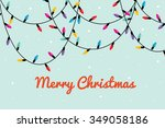 colorful fairy lights vector... | Shutterstock .eps vector #349058186
