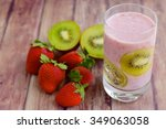 kiwi strawberry smoothie | Shutterstock . vector #349063058