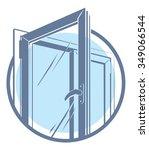 vector plastic window icon | Shutterstock .eps vector #349066544