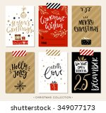 christmas gift tags and cards... | Shutterstock .eps vector #349077173