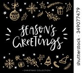 season's greetings. christmas... | Shutterstock .eps vector #349077479