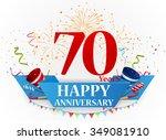 happy anniversary celebration... | Shutterstock . vector #349081910