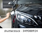 car detailing series   glass... | Shutterstock . vector #349088924