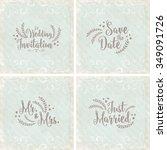lovely wedding card set | Shutterstock .eps vector #349091726