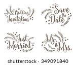 lovely wedding design set | Shutterstock .eps vector #349091840