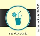 vector glass of juice icons  | Shutterstock .eps vector #349108883