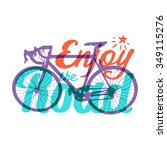 """vector bicycle with """"enjoy the... 