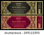 vintage black and red ticket... | Shutterstock .eps vector #349115393