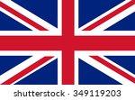 flag of united kingdom | Shutterstock .eps vector #349119203