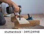 carpenter work   Shutterstock . vector #349124948