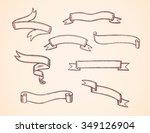 set of hand drawn vector... | Shutterstock .eps vector #349126904