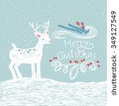 cute children vector sketch of... | Shutterstock .eps vector #349127549