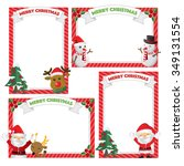 set of christmas frames vector... | Shutterstock .eps vector #349131554