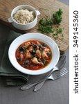 chicken in tomato sauce | Shutterstock . vector #349145360