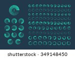 futuristic progress loading bar.... | Shutterstock .eps vector #349148450