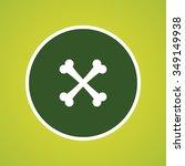 bones icon | Shutterstock .eps vector #349149938