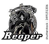 Illustration Of Grim Reaper O...