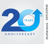 template logo 20th anniversary... | Shutterstock .eps vector #349153940