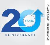 template logo 20th anniversary... | Shutterstock .eps vector #349153940