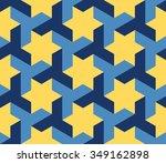 Vector Seamless Blue Yellow...