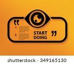 eye quotation mark speech... | Shutterstock .eps vector #349165130