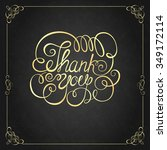 thank you hand lettering.... | Shutterstock .eps vector #349172114