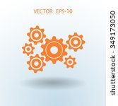 gears icon   Shutterstock .eps vector #349173050