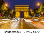 paris arc de triomphe at night  ... | Shutterstock . vector #349175570