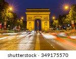 paris arc de triomphe at night  ... | Shutterstock . vector #349175570