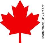 maple leaf isolated illustration | Shutterstock .eps vector #349175579