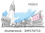venice   san marco square.... | Shutterstock .eps vector #349176713