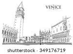 venice   san marco square.... | Shutterstock .eps vector #349176719