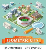 build your own isometric city.... | Shutterstock .eps vector #349190480