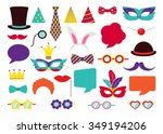 party birthday photo booth... | Shutterstock .eps vector #349194206