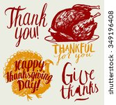 thanksgiving vintage... | Shutterstock .eps vector #349196408