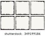 grunge frame.grunge background... | Shutterstock .eps vector #349199186