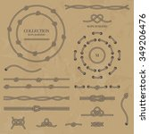vector set nautical elements of ... | Shutterstock .eps vector #349206476