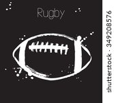 rugby ball.  sketch. vector... | Shutterstock .eps vector #349208576