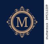 elegant floral monogram design... | Shutterstock .eps vector #349212209
